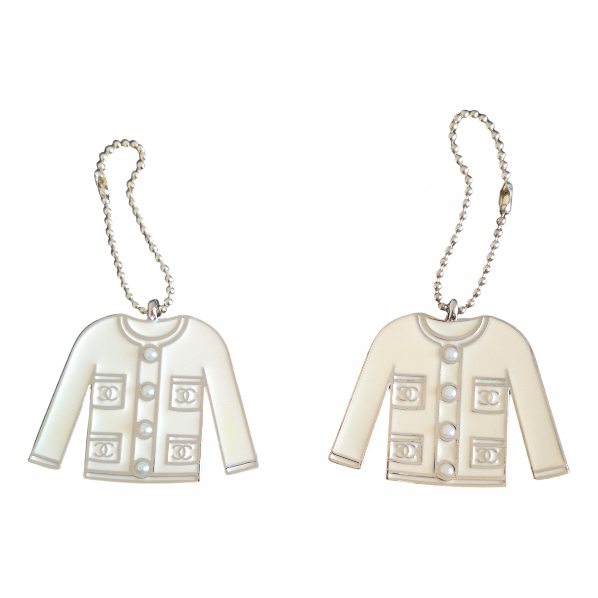 Chanel CHANEL White Metal Bag charms for Women N