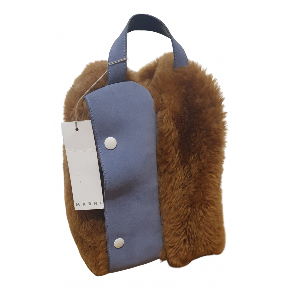 Marni \N Handtasche in  Kamel Wolle