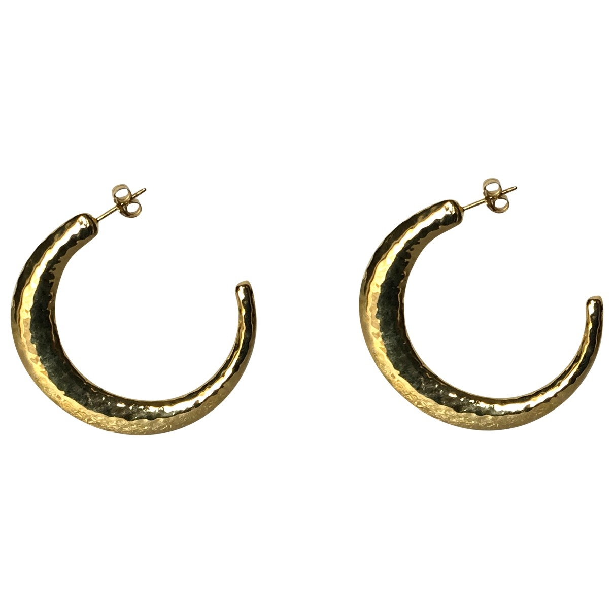 Non Signé / Unsigned \N Gold Silver Earrings for Women \N