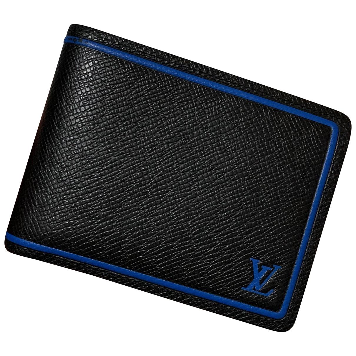Louis Vuitton - Petite maroquinerie Multiple pour homme en cuir - noir