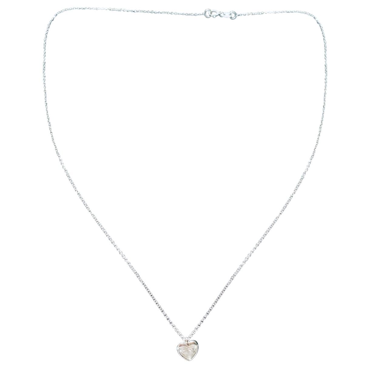 - Collier Motifs Coeurs pour femme en or blanc - argente
