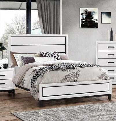 Shiloh Collection SH175-F Full Size Bed with 4 Slats and 4 Support Legs in White