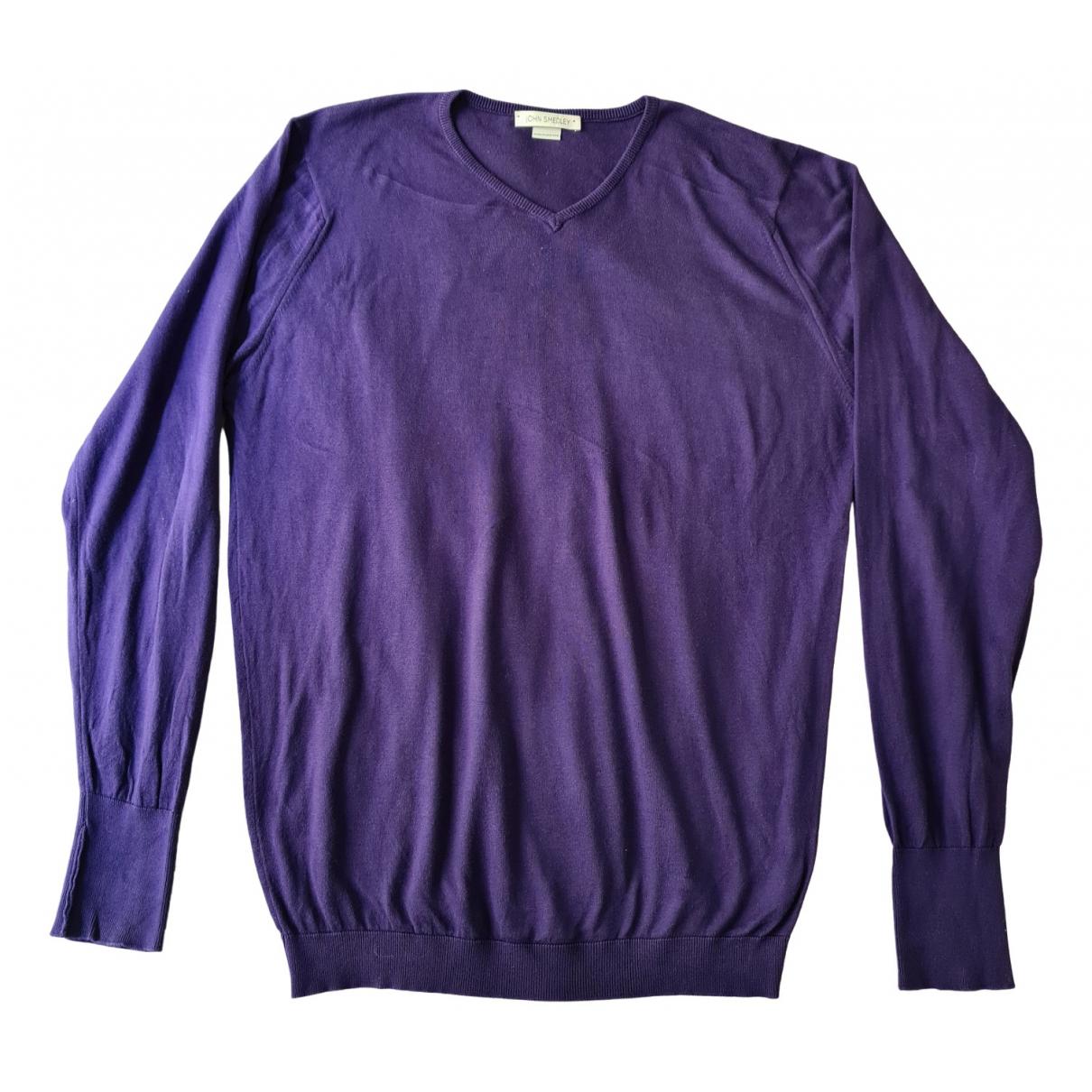 John Smedley - Pulls.Gilets.Sweats   pour homme en coton - violet