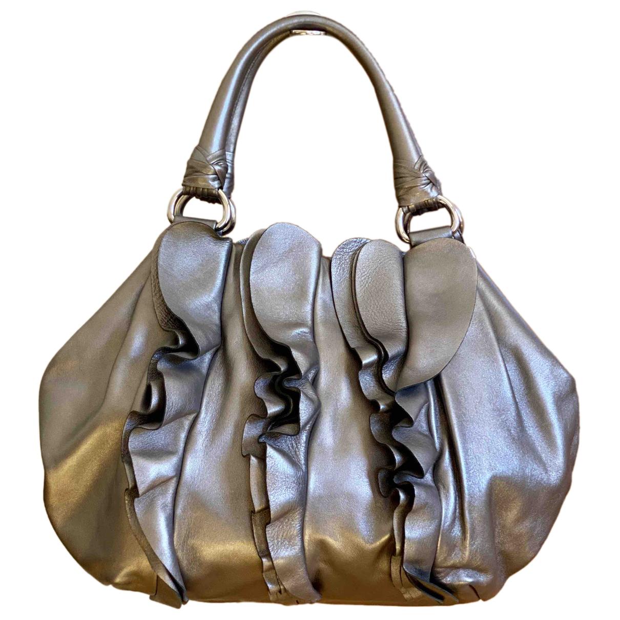 Prada - Sac a main   pour femme en cuir - argente