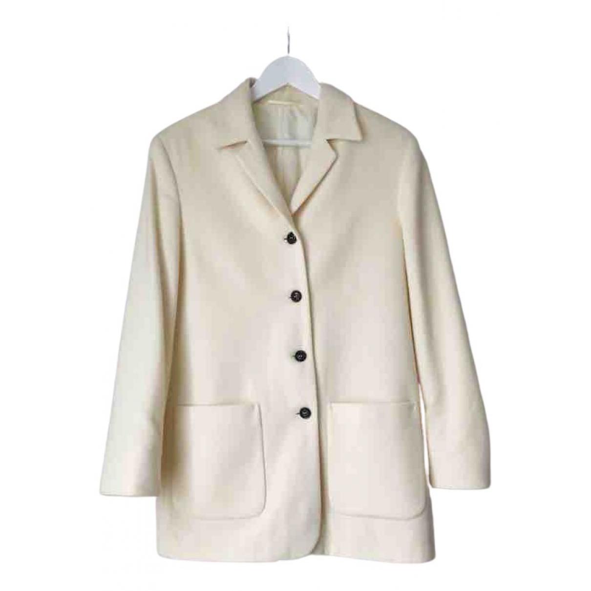 - Manteau   pour femme en laine - ecru