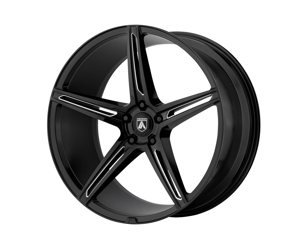 Asanti ABL22-20051520BK Black ABL-22 Alpha 5 Wheel 20x10.5 5x5x115 +20mm Gloss Black Milled