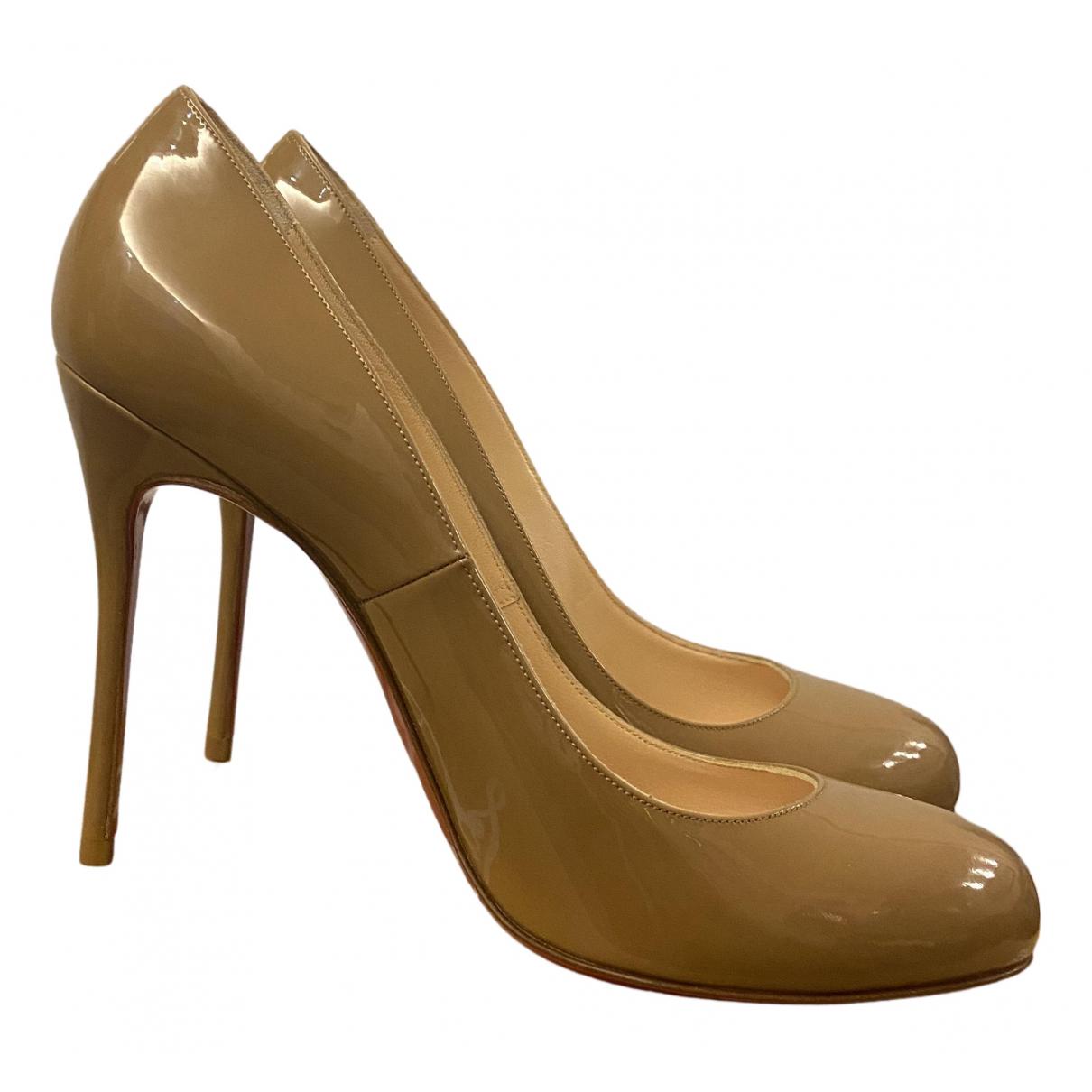 Christian Louboutin Fifi  Beige Patent leather Heels for Women 39 EU