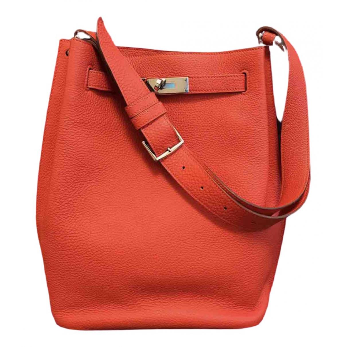 Hermès So Kelly Red Leather handbag for Women \N