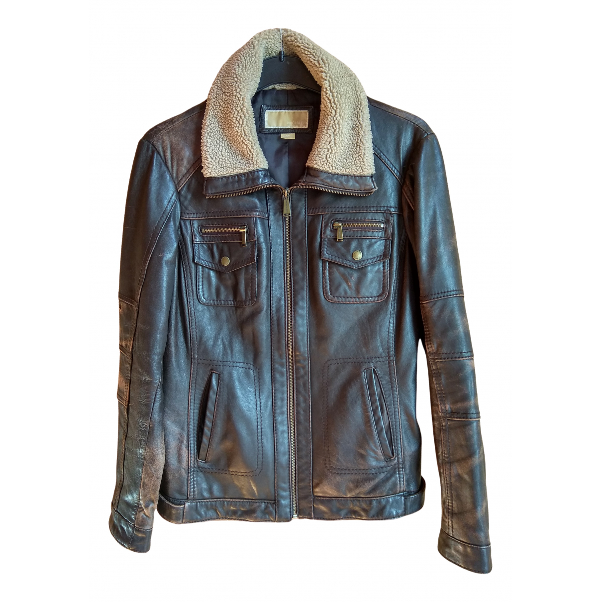 Michael Kors N Brown Leather Leather jacket for Women L International