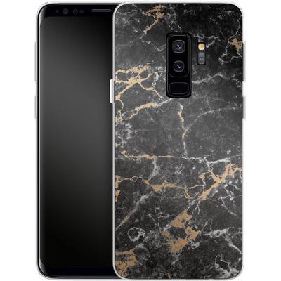 Samsung Galaxy S9 Plus Silikon Handyhuelle - Marble and Gold von #basic