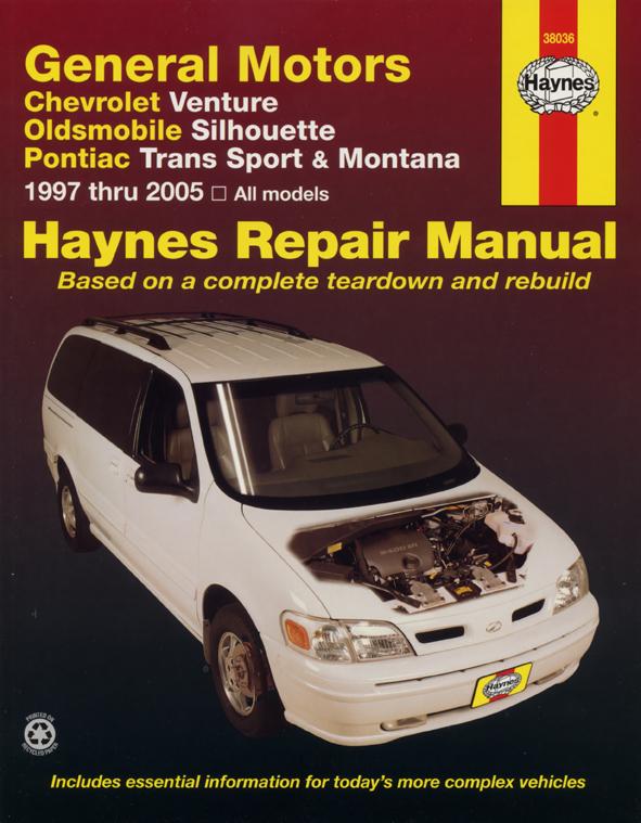 General Motors covering Chevrolet Venture, Oldsmobile Silhouette, Pontiac Trans Sport & Montana (97-05) Haynes Repair Manual