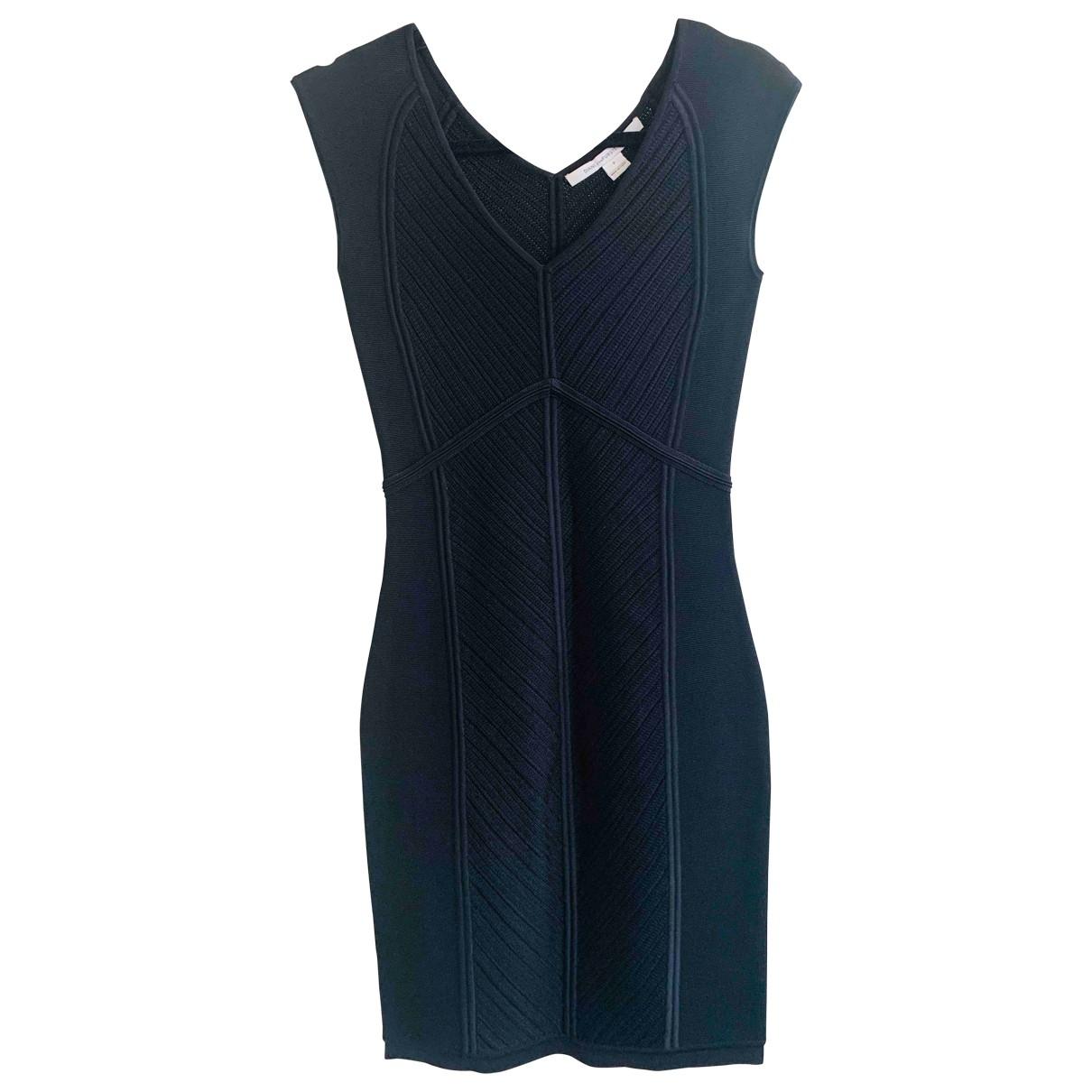 Diane Von Furstenberg \N Kleid in  Schwarz Polyester