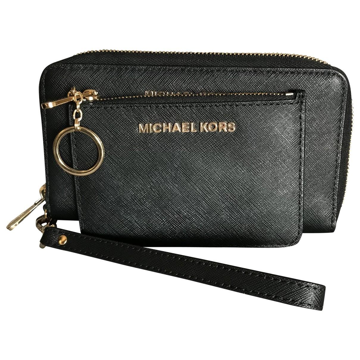 Michael Kors - Portefeuille Jet Set pour femme en cuir - noir
