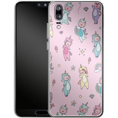 Huawei P20 Silikon Handyhuelle - Piggy Unicorns von Chan-chan