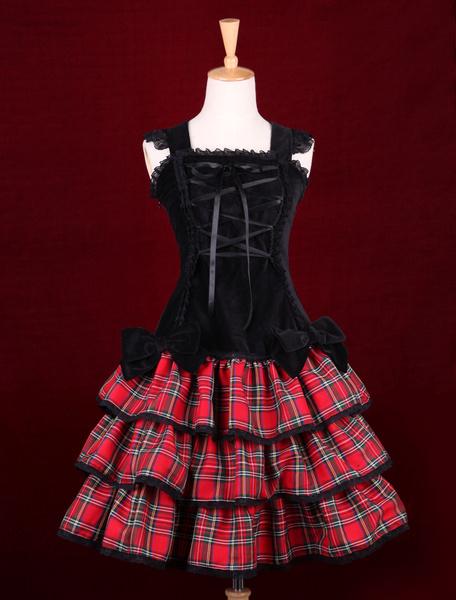 Milanoo Punk Lolita Dress Last Icy Kiss Op Lolita One Piece Dress