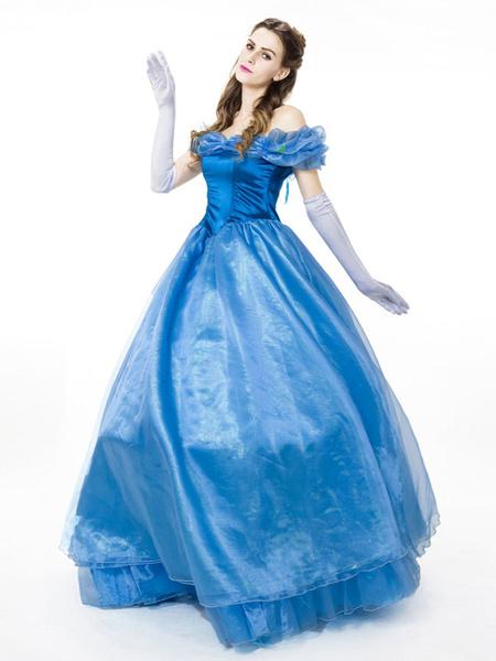 Milanoo Disney Cinderella Cosplay Costume Halloween