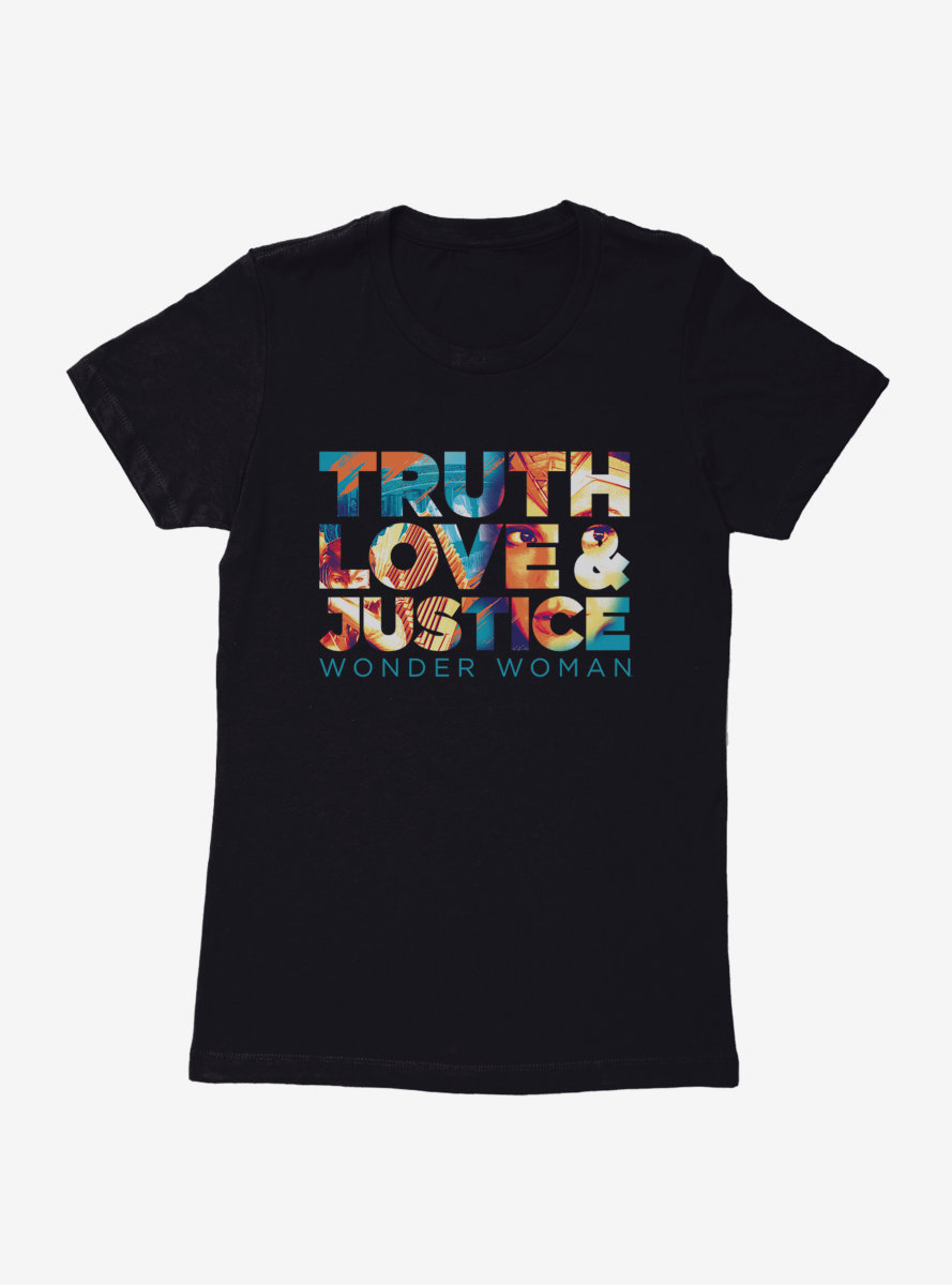 DC Comics Wonder Woman 1984 Truth, Love, And Justice Womens T-Shirt