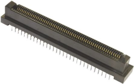 TE Connectivity Male Backplane Connector, SMT Mount, 64 Way, 1mm Pitch, 500mA