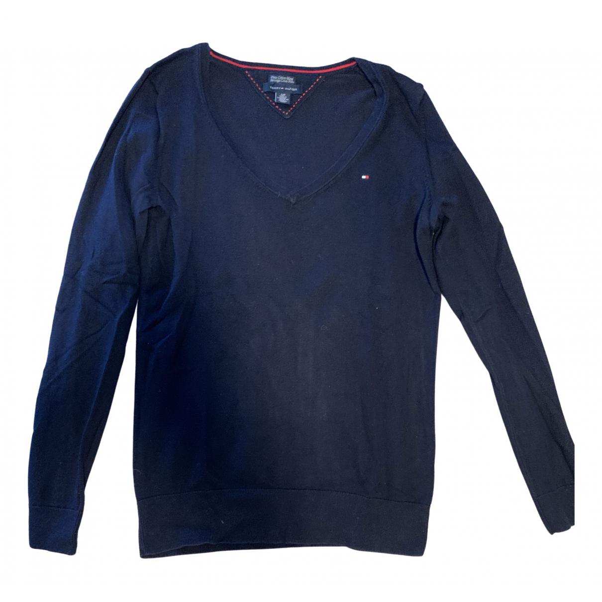 Tommy Hilfiger - Pull   pour femme en coton - bleu