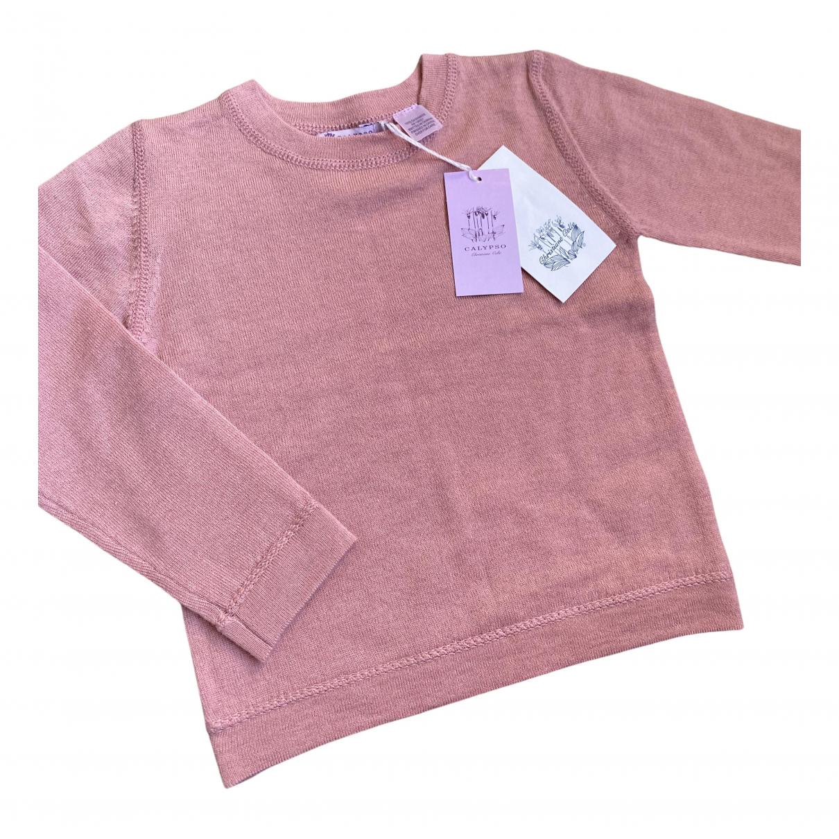 Christiane Celle - Pull   pour enfant en cachemire - rose