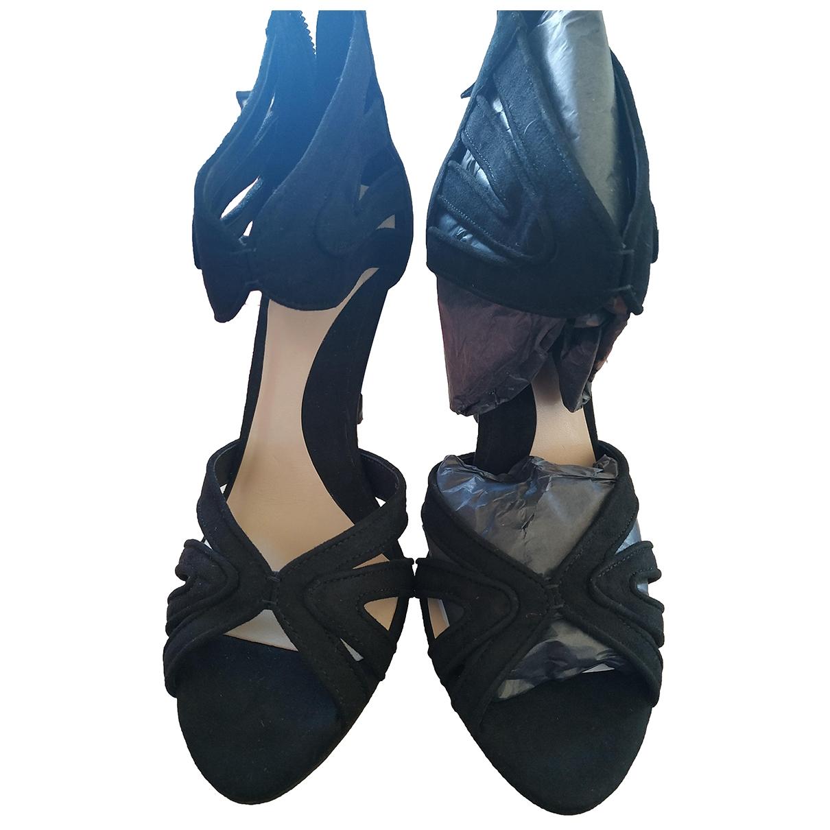 Zara \N Black Suede Heels for Women 39 EU