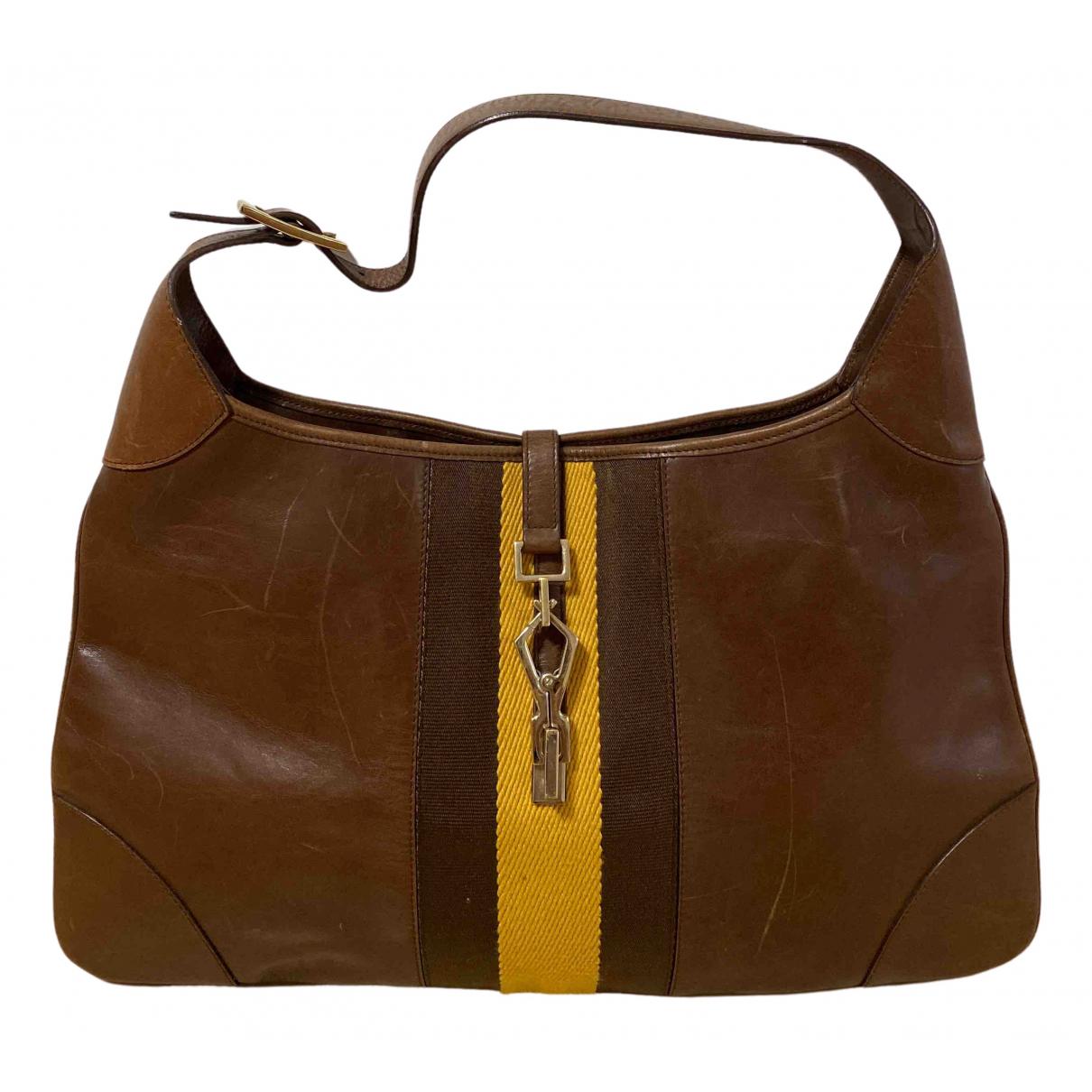 Gucci Jackie Vintage  Brown Leather handbag for Women \N