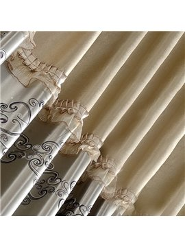 Elegant Luxury Embroidery Decoration Blackout Curtains for Living Room Custom 2 Panels Drapes No Pilling No Fading No off-lining