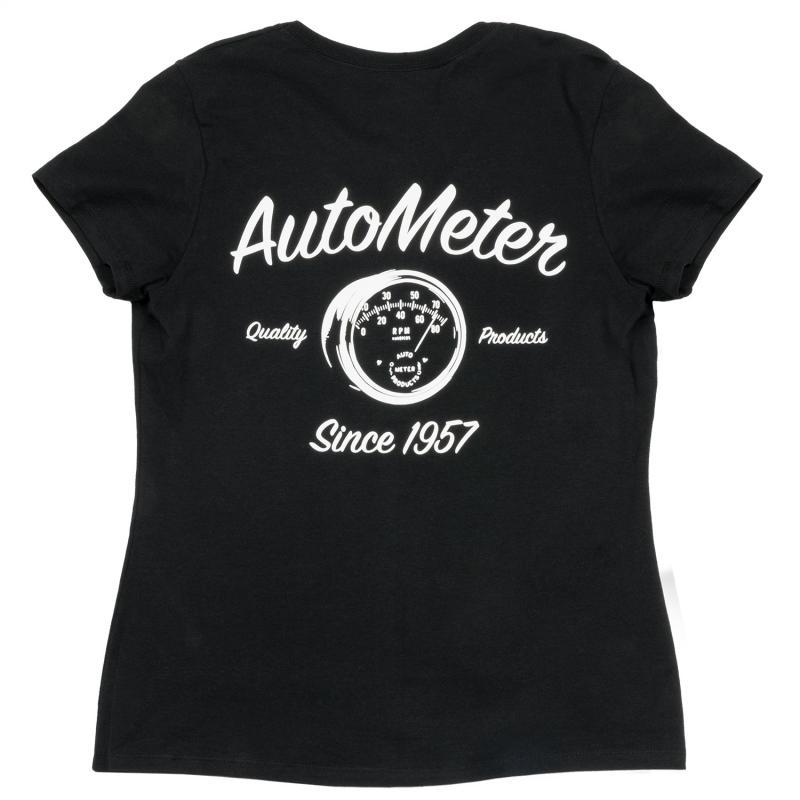 AutoMeter T-SHIRT; WOMEN S LARGE; BLACK; VINTAGE
