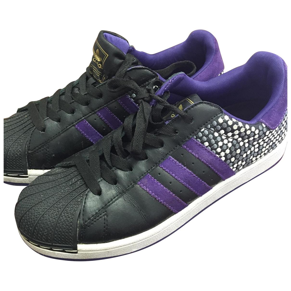 Adidas - Baskets Superstar pour homme en cuir - noir