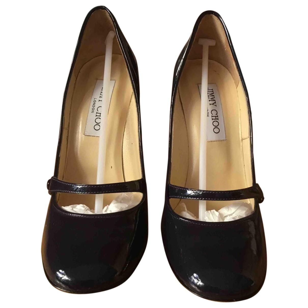 Jimmy Choo \N Black Leather Heels for Women 36.5 IT