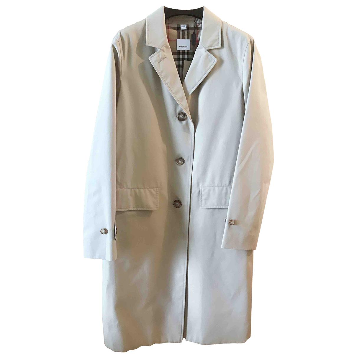 Burberry \N Beige Cotton coat for Women 6 UK