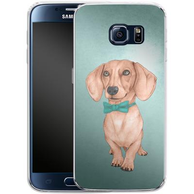 Samsung Galaxy S6 Silikon Handyhuelle - Dachshund the Wiener Dog von Barruf