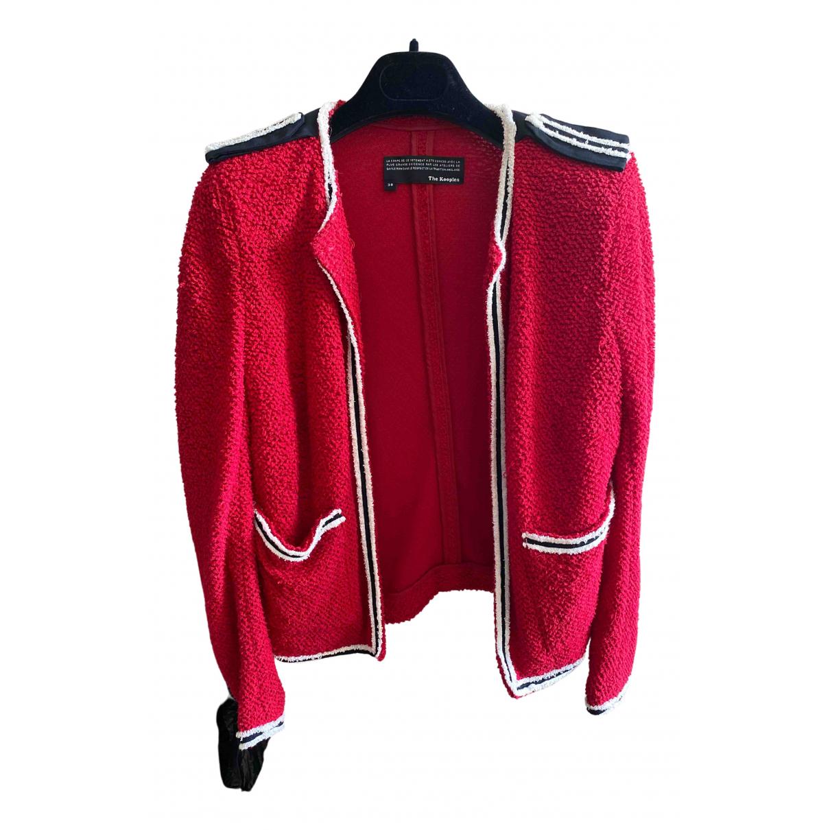 The Kooples - Veste   pour femme en coton - rouge