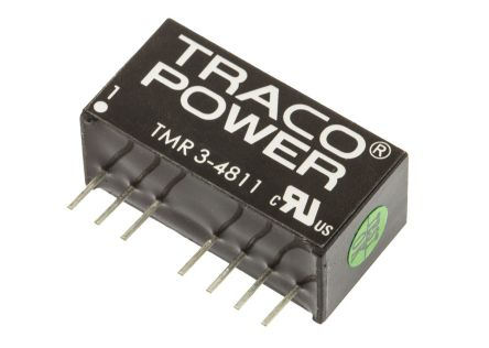 TRACOPOWER TMR 3 3W Isolated DC-DC Converter Through Hole, Voltage in 36 → 75 V dc, Voltage out 5V dc