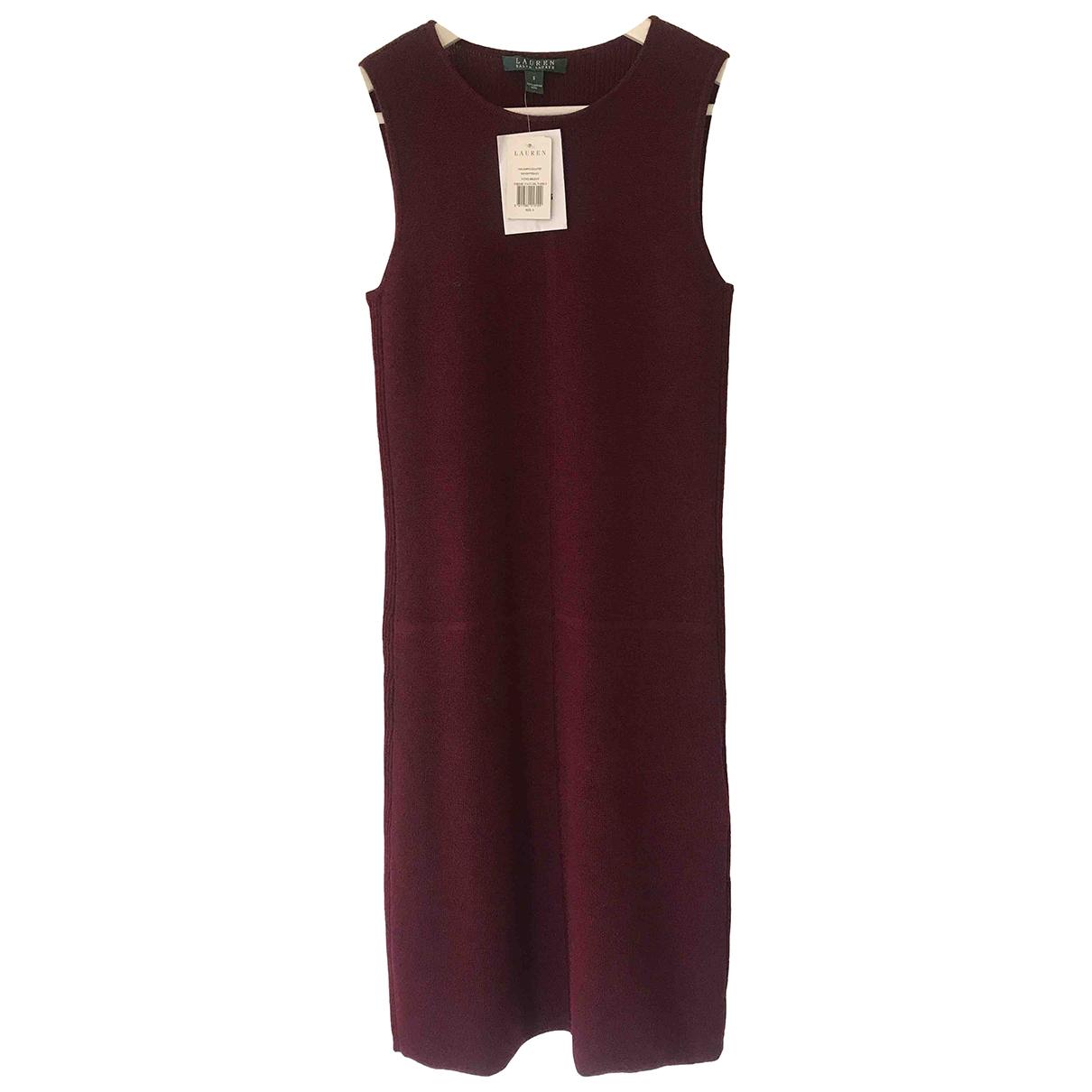 Lauren Ralph Lauren \N Burgundy Wool dress for Women S International