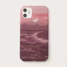 Iphone Huelle mit Monddruck