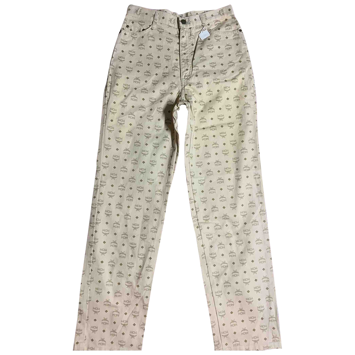 Mcm \N Beige Cotton Jeans for Women 27 US
