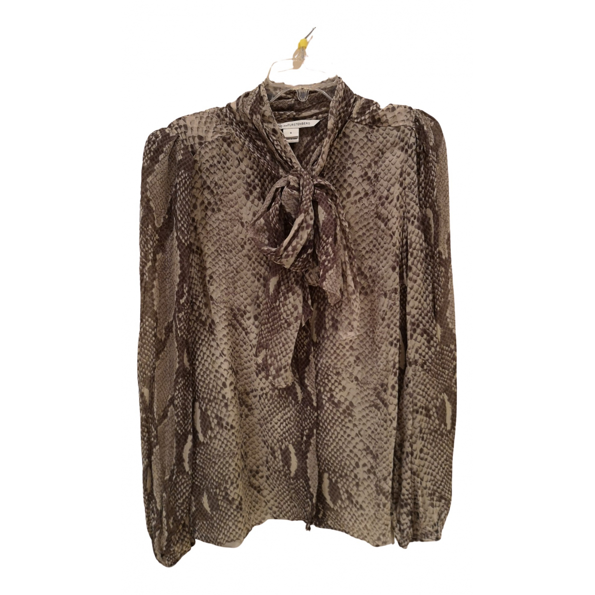 Diane Von Furstenberg \N Grey Silk  top for Women 6 US