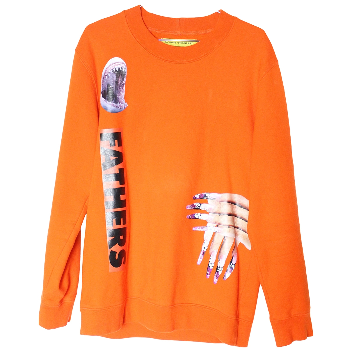Raf Simons \N Pullover.Westen.Sweatshirts  in  Orange Baumwolle