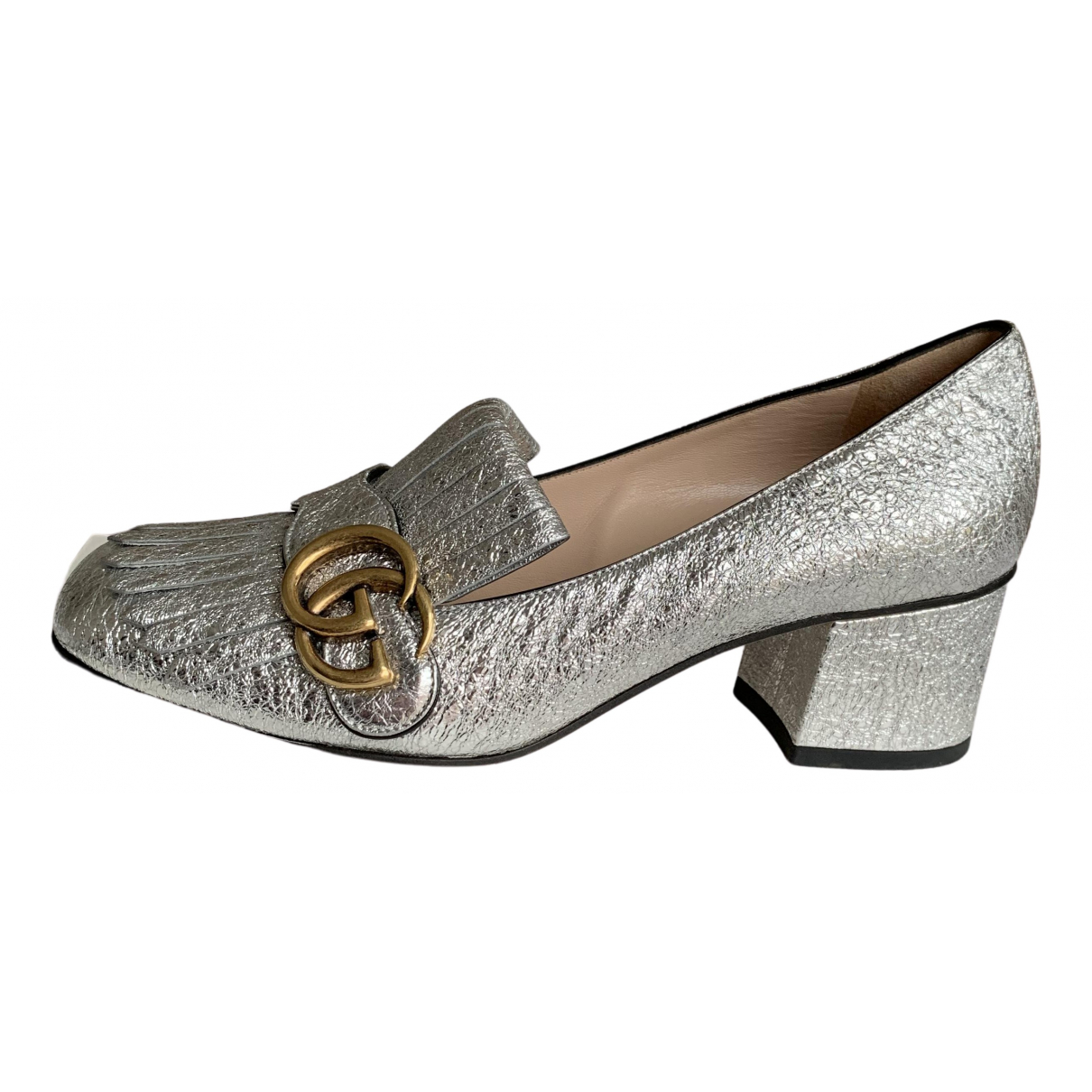Gucci - Escarpins Marmont pour femme en cuir - metallise