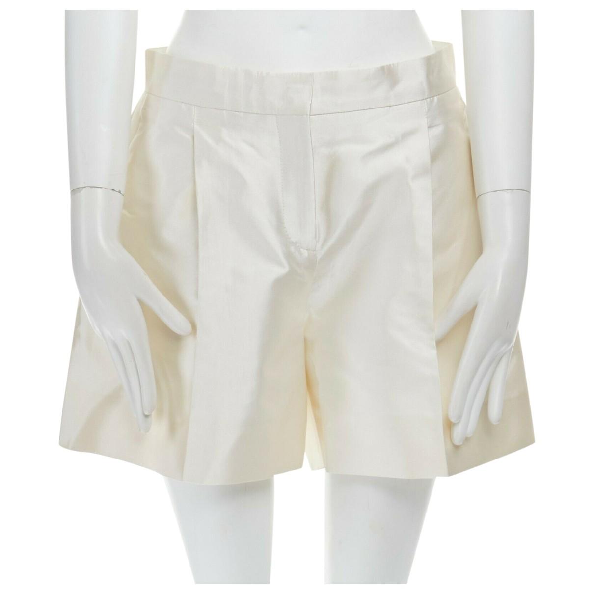 Valentino Garavani \N Shorts in  Ecru Seide