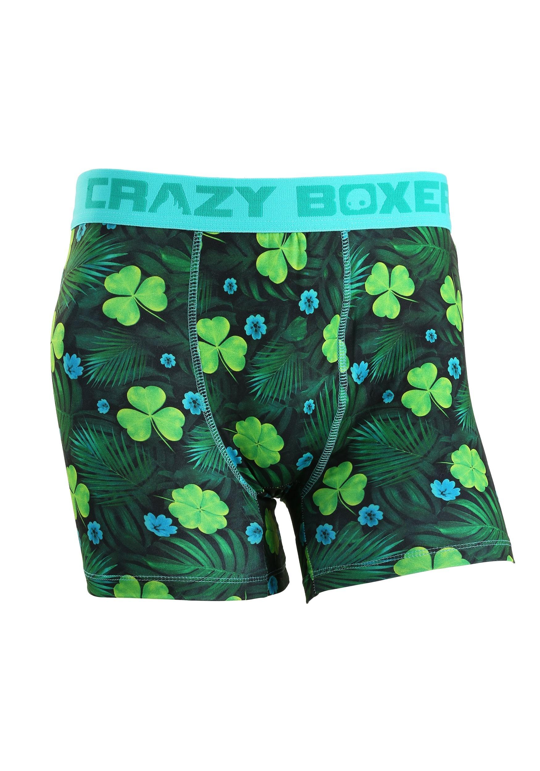 Shamrock Get Lucky Crazy Boxers Mens Boxer Briefs