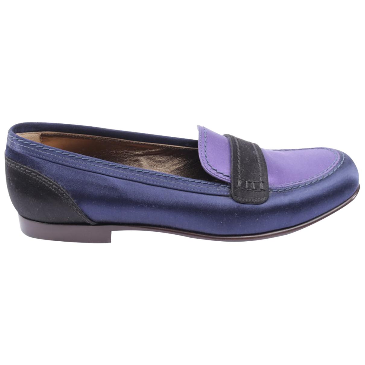 Lanvin \N Sneakers in  Blau Leder