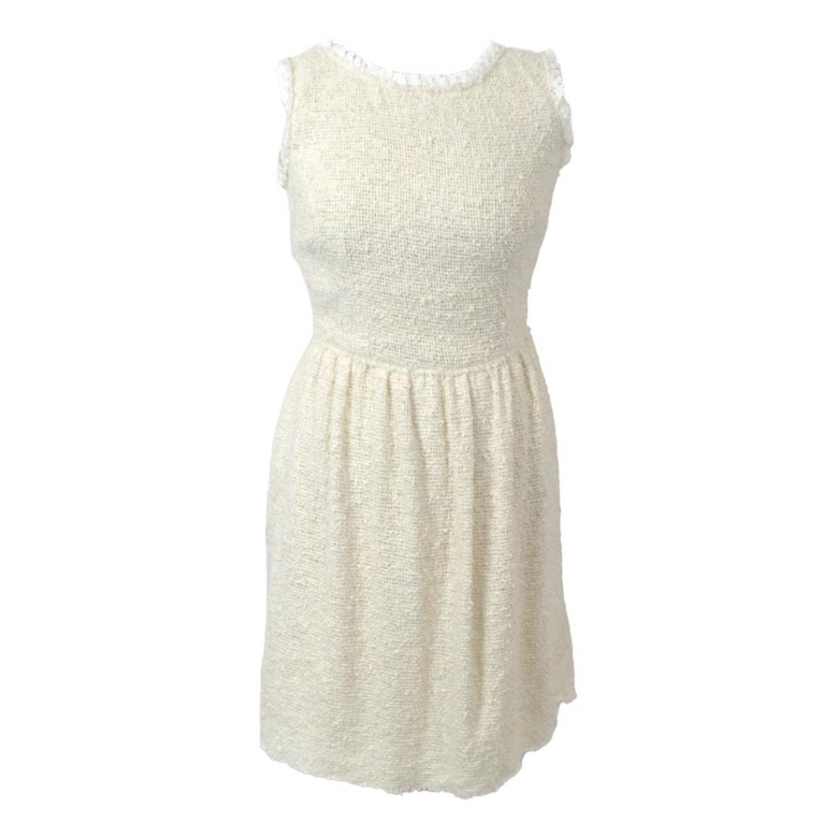 Dolce & Gabbana \N Kleid in  Ecru Baumwolle