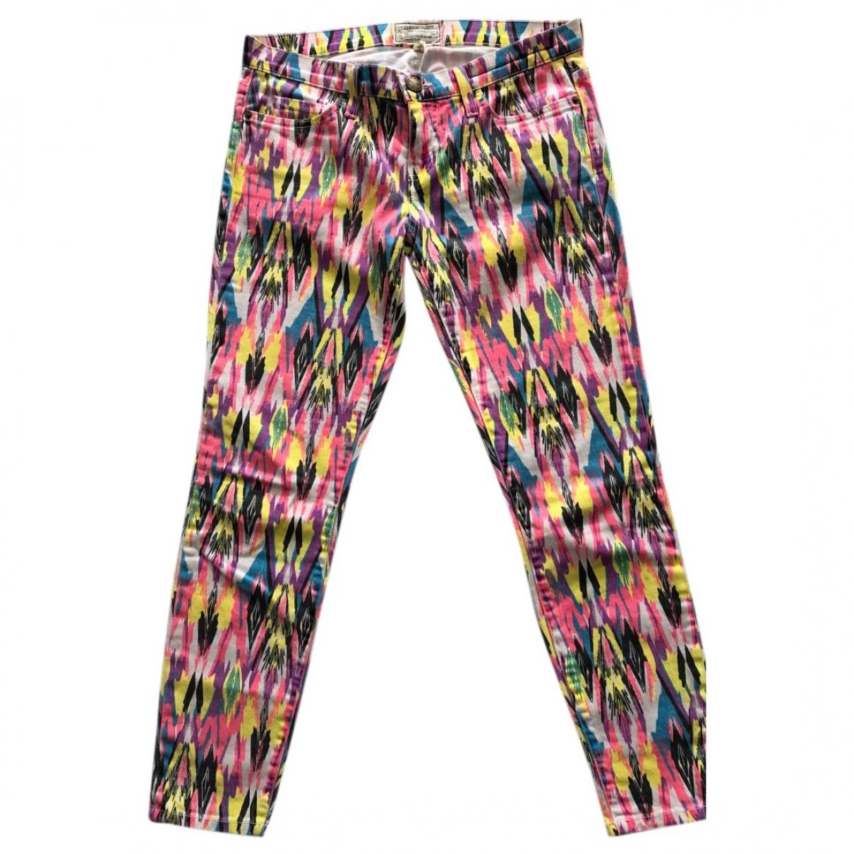 Current Elliott \N Multicolour Cotton Trousers for Women 38 FR