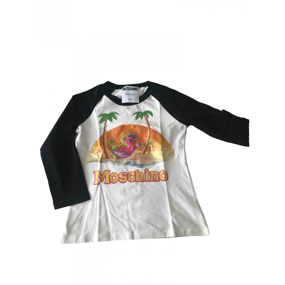 Moschino - Top   pour femme en coton - ecru