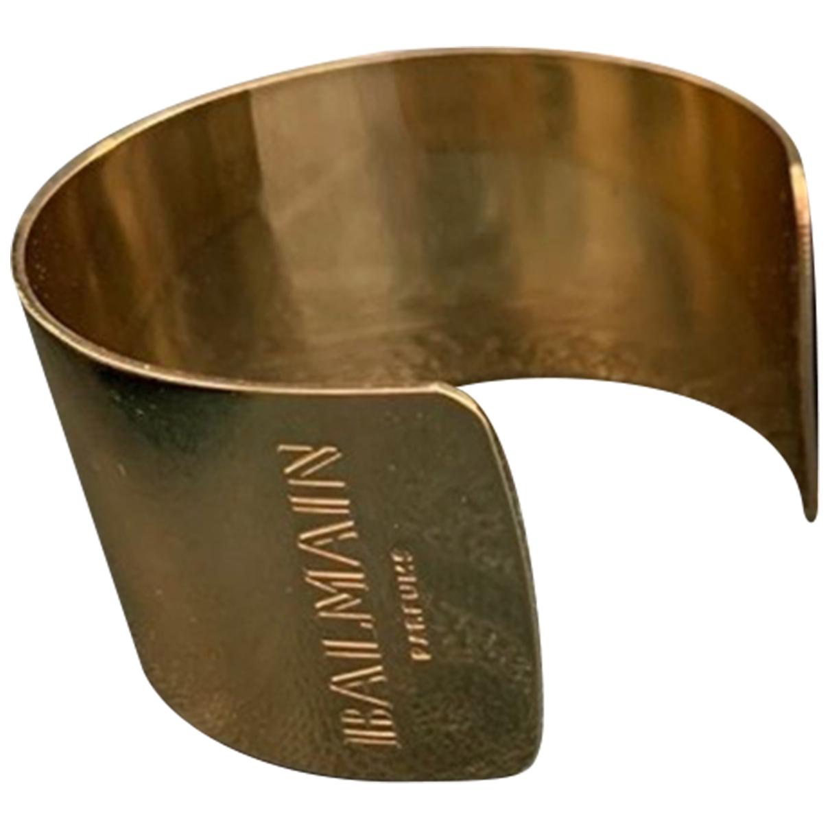 Balmain \N Gold Metal bracelet for Women \N