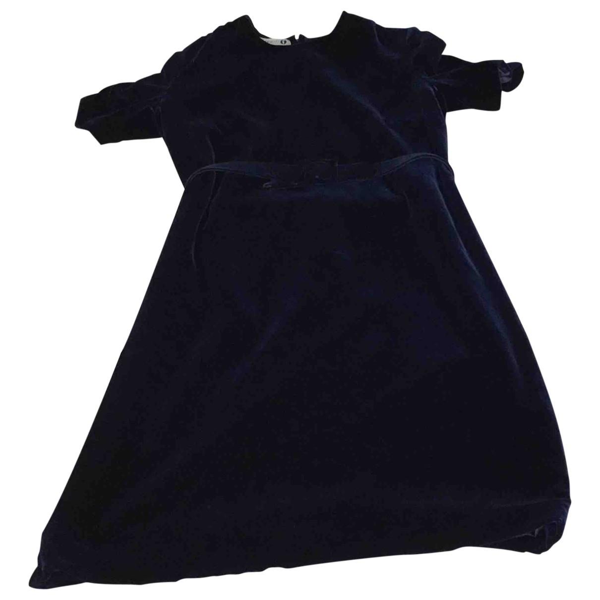 Bruce Oldfield - Robe   pour femme en velours - bleu
