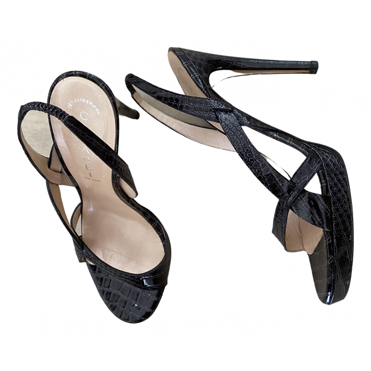 Casadei \N Black Leather Sandals for Women 11 US