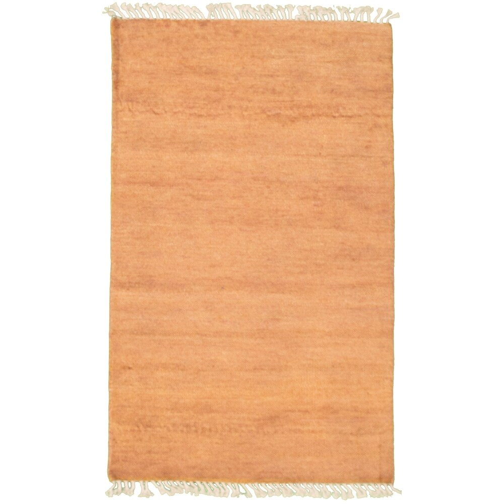 ECARPETGALLERY  Hand-knotted Pak Finest Gabbeh Copper Wool Rug - 3'0 x 5'2 (Dark Copper - 3'0 x 5'2)